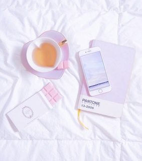 periwinkle, pink chocolate and study