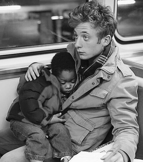 retro, jeremy allen white and child