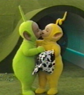 couple, love and teletubbies