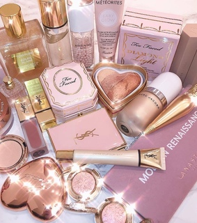 highlights, blushes and makeup