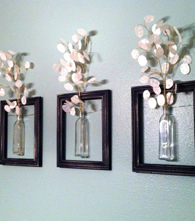 reuse, home decor and repurposed frame