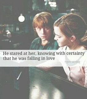 harry potter, love and ron weasly