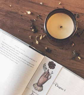 wood, candles and vintage
