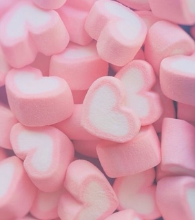 yummy, marshmallow and pink