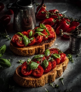 bruschetta, foodie and food photography