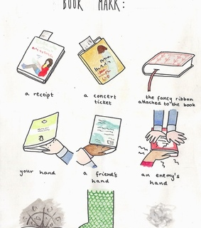 reading, bookmarks and cute