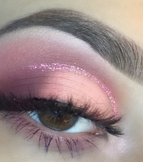 glitter, lashes and makeup