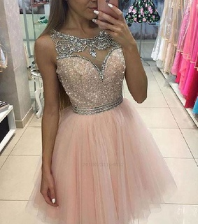 prom dress 2018, pink prom dress and short homecoming dress