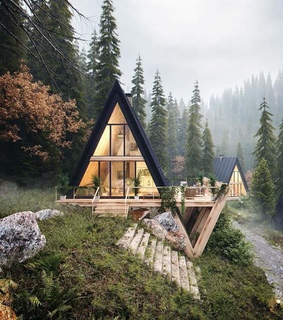 forest, wonderful places and log cabin