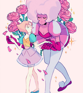 pearl, steven universe and pink diamond