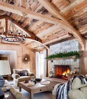 decorating, cabin and living room