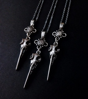 goth, gothic necklace and gothic