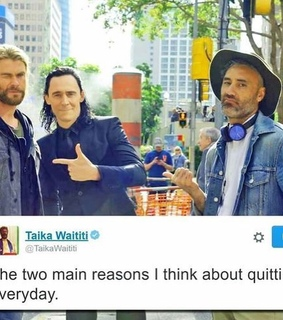 taika waititi, tom hiddleston and loki