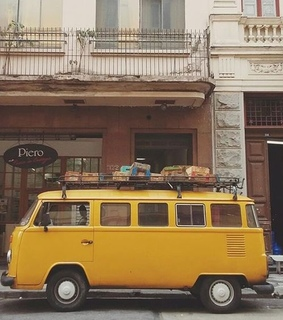 bus, yellow and 80s