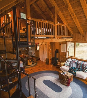 log cabin, home and decor