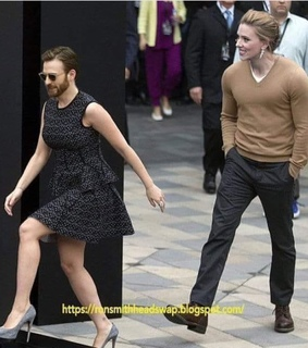 johansson, chris and dress up