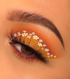 makeup, cute and flowers