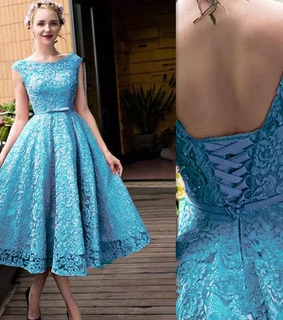 lace dress, blue dress and hoco dress