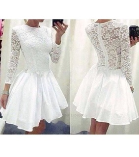 prom dress with sleeves, homecoming dress lace and prom dress chiffon