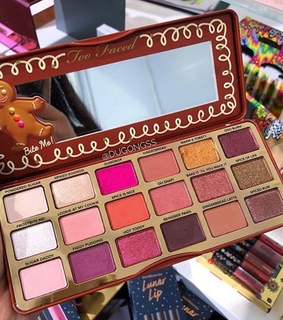 gingerbread palette, too faced palette and makeup palette