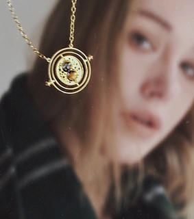 artsy, bookish and necklace
