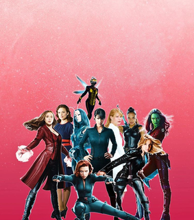 scarlet witch, wasp and fight like a girl