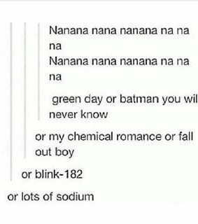 fall out boy, my chemical romance and green day
