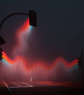 traffic lights, raining and confusion
