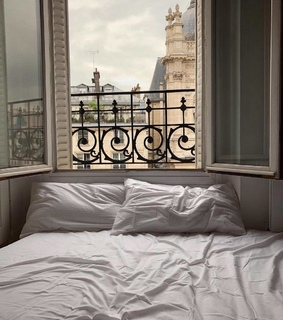 aesthetic, bed and view