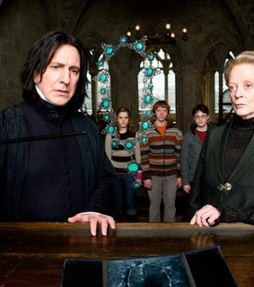 minerva mcgonagall, severo snape and harry potter and the half blood prince