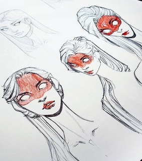 manga, girl drawing and drawing steps