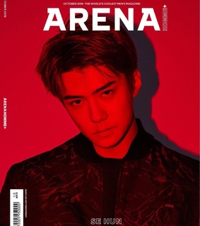 sehun exo, aesthetic and red