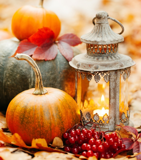 nature, autumn and candles