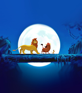 the lion king, background and night