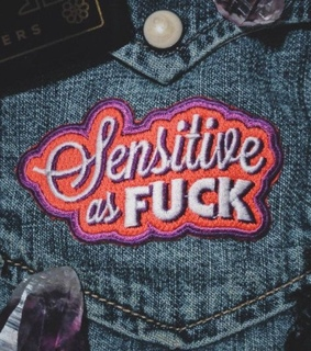 embroidered, sensitive and patch
