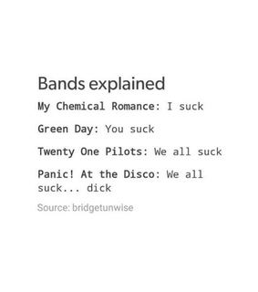bands, twenty one pilots and music