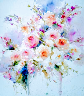 watercolor, floral and flower
