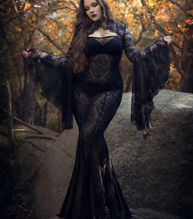 gothic style, gothic fashion and goth model