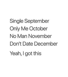 december, september and no man