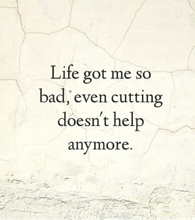 suicidal, cutting and crying