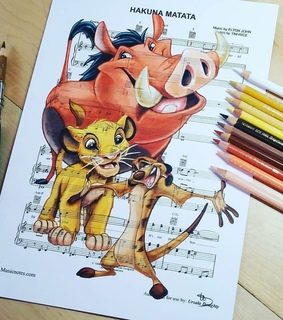 the lion king, pumba and art
