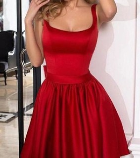 short homecoming dress, red homecoming dress and homecoming dress simple
