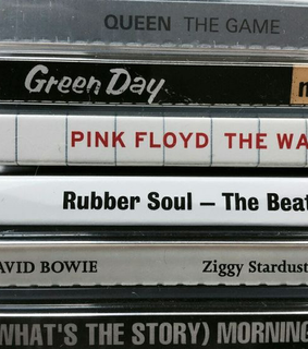 queen, pink floyd and green day