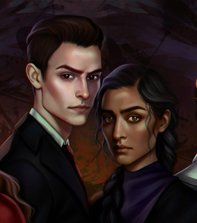book illustration, book characters and six of crows