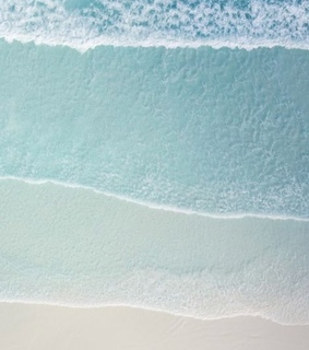 beach, water and blue