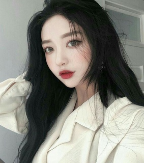 aesthetic, red lips and asian