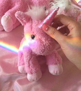 plushie, toy and rainbow
