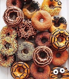 sweets, october and donuts