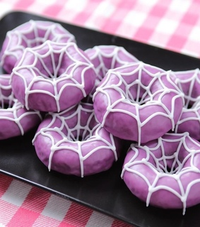 october, donuts and purple