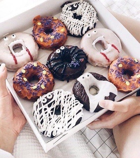 donuts, halloween and sweets